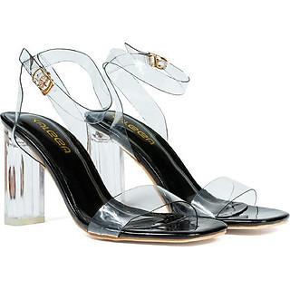 Giày Sandal quai trong, gót mica cao 7cm HTK2019 - Chính hãng Kaleea