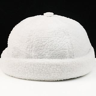 Mũ tròn miki hat lông cừu ấm áp (MU14), nón vành tròn thủy thủ mùa đông thời trang nam nữ, mũ họa sĩ cá tính