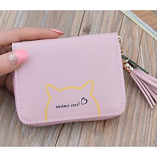 Ví ngắn nữ đựng tiền cầm tay mini Mini Cat nhỏ xinh VN29