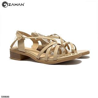Sandal nữ 3 cm, da bóng, nhiều dây SD16