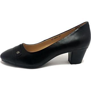 Giày ZAHAN đế cao su đúc,5f, mũi vuông, đai ngang CGZA292