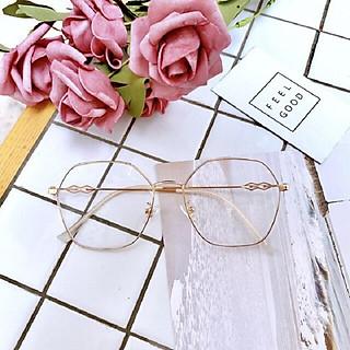 Kính cận thời trang mắt đa giác Hàn Quốc bảo vệ mắt chống tia UV 023