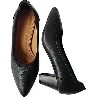 Giày Cao Gót Nữ Công Sở Da Bò BIGGBEN GCG1