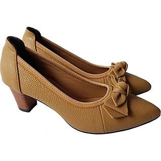 Giày Cao Gót Nữ Công Sở Da Bò BIGGBEN GCG5