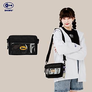 DKMV Túi BS Logo - MÀU ĐEN/ Túi vải phối nhựa trong/ Túi đeo chéo thời trang