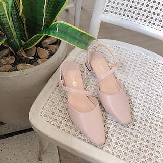 Giày Sandal Gót Vuống Quai Chéo MIKO 3