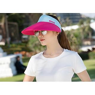 nón chống nắng chống uv rộng vành thời trang, mũ rộng vành nửa đầu nữ