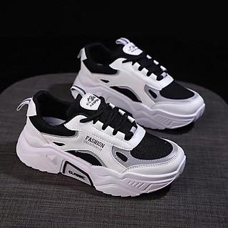 Giày thể thao sneaker nữ Fashion phản quang đế độn 5 phân siêu êm chân