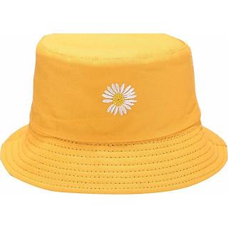 Nón bucket 2 mặt hoa cúc vành rộng 5.5Cm 3 màu