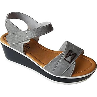 Giày Sandal Nữ Đế Xuồng BIGGBEN Da Bò Thật SDX04