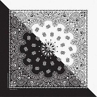 Khăn Bandana (Khăn Turban EXO) Màu Trắng Đen - Mã B011