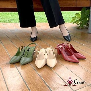 Giày Cao Gót Mũi Nhọn Da Rắn Đẹp, Giày Cao Gót Nữ 5P  Êm Chân VUM00205