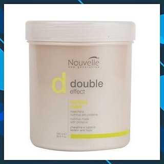 Dầu hấp ủ Keratin Nouvelle new Generation Double Effect Nutritive mask dược thảo dưỡng phục hồi tóc hư 1000ml