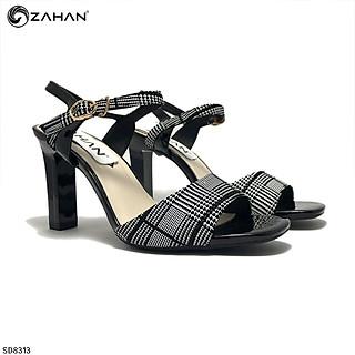 Sandal nỉ kẻ 7 cm SD8313