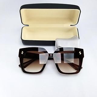 Mắt kính nữ thời trang DKY9903TR. Tròng màu nâu trà chống nắng, chống tia UV, gọng bản rộng ôm sát mặt