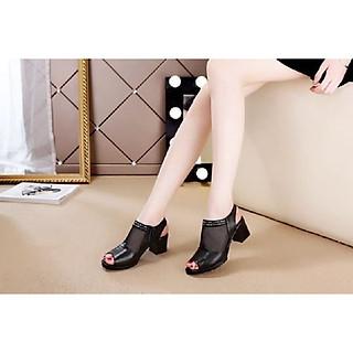 Giày Boot viền đính đá G1100