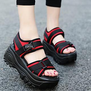 Dép sandal nữ đế bánh mỳ phối màu, tăng chiều cao S18