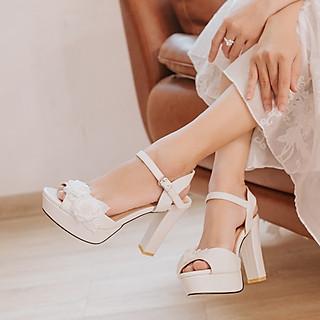 Giày cưới Nghé Art hoa 283
