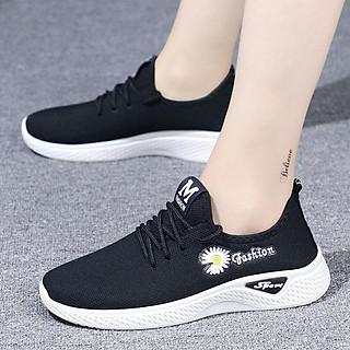 Giày vải thể thao Sneaker buộc dây, chất liệu vải thoáng khí cho chị em - MH107