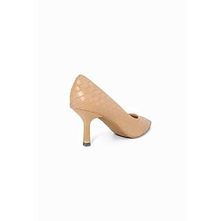 Giày Cao Gót Công Sở 6cm Đệm Mút Sulily màu nâu mang êm chân G01-IV20NAU