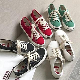 Giày vải nhiểu màu trẻ trung, năng động (Sẵn đen, đỏ, trắng)