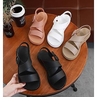 Giày Sandals nữ 3 phân chống nước cao su quai chéo V246