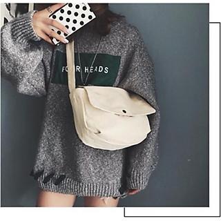Túi Đeo Chéo, Túi đeo vai nữ Chất Liệu Vải Canvas có thể làm Cặp Đi Học Hay Đi Chơi Đều Tiện Lợi,Có Nắp Gập