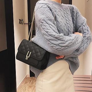 Túi đeo chéo nữ trần trám bút chì PK 417