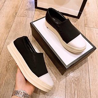 Giày lười nữ chất vải hàng xuất dư S15