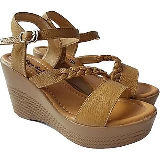 Giày Sandal Nữ Đế Xuồng BIGGBEN Da Bò Thật SDX19