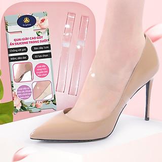 Quai giày ẩn trong suốt bằng silicon hỗ trợ mang giày dép cao gót chống tuột - buybox - BBPK39