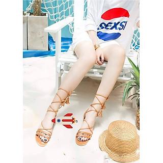 Giày Sandal Cột Dây Tua Rua
