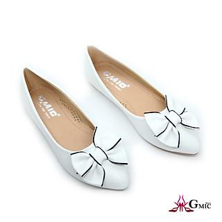 [ BIG SIZE ] Giày Bệt Nữ Đính Nơ Viền Dể Thương | Giày Búp Bê Nữ Cao Cấp Êm Chân NBB003