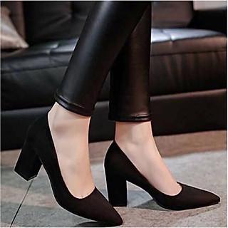 Giày Cao Gót Nữ Bọc Nhung 5p