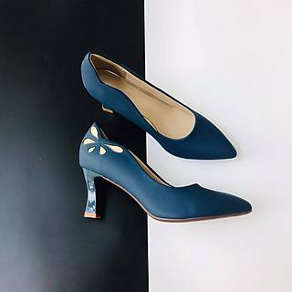 [ Shop giày somina ] Giày VIP gót 7cm hậu phối màu MT242