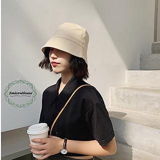 Mũ bucket vải xô Nhật Bản vành cụp ngắn che mặt nón tai bèo nam nữ vành phẳng chống nắng freesize - Smice House