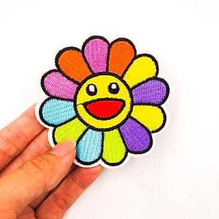 Kaikai kiki - Patch ủi sticker vải bông hoa nhiều màu