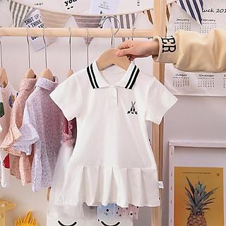 Váy polo cộc tay cho bé gái, váy thể thao cho bé, váy bóng chày