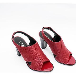 Giày sandal nữ cao gót, cao 9CM, da tổng hợp cao cấp êm ái,bản quai to  bền chắc và thời trang. Mũi tròn, gót trụ vững trãi,thiết kế dạng gót bóng sang trọng: SD.155.9F