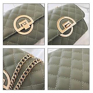 Túi xách đeo chéo trần trám khóa tròn siêu sang Amuzo TX29