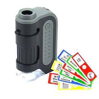 Kính Hiển Vi Bỏ Túi Đa Năng 60-120x LED MM-300 Kèm Bộ 12 Tiểu Mẫu Thực Vật