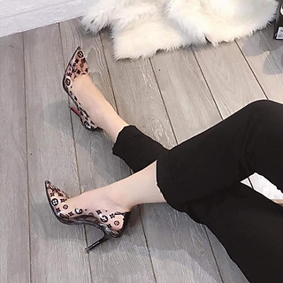 Giày Cao Gót Quai Trong 9P - VNXK