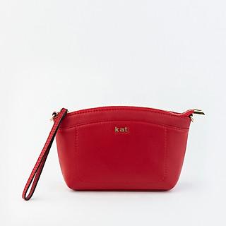 Túi da thật Kat - VIC - Màu đỏ