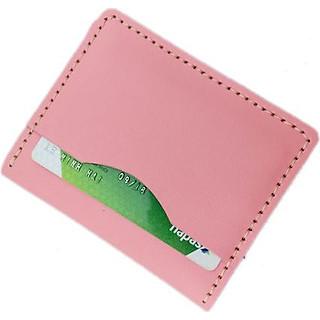 ví da mini -ví đựng thẻ atm, da bò cao cấp màu hồng dành cho nữ