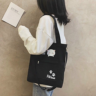 Túi Tote nữ túi đeo vai túi xách tote túi đeo chéo Hàn Quốc túi vải đeo vai kẹp nách