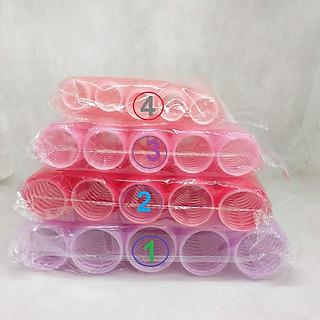 Bộ 10 lô cuốn dính - Lô uốn không dùng nhiệt ( Size 1,2,3,4,5)
