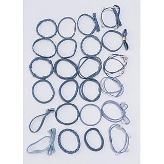 Hộp 24 dây thun buộc tóc,cột tóc nhiều kiểu