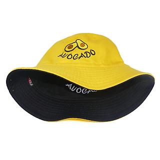 Nón bucket tai bèo trái bơ thêu chữ AUOCADO đội được 2 mặt với 2 màu khác nhau độc đáo, dễ thương