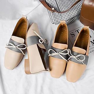 Giày cao gót vuông kiểu dáng Hàn Quốc 6438