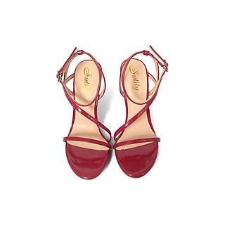 Giày Sandal Gót Nhọn Quai Chéo Mỏng 10 phân Sulily SG2-IV20DO màu đỏ
